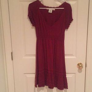 Max Studio Maroon Sweater Dress